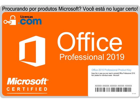 Microsoft Office 2019 Professional Esd + Nota Fiscal