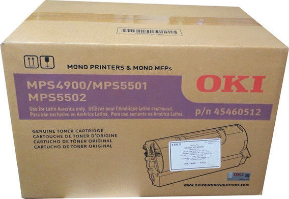 Toner Preto Oki Para Mps5501b 36.000 Pag - 45460512br