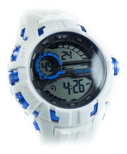 Reloj Hombre Digital Prospace Race Blanco Sumergible Deporte