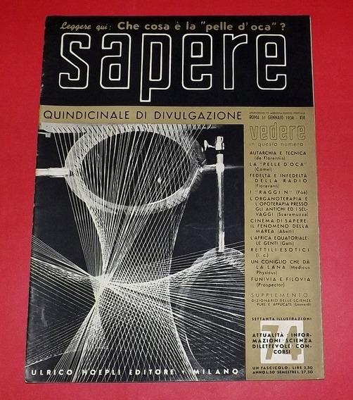 Revista Antiga Sapere De 1938 - Rara - Itália