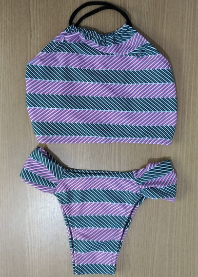 Kit 2 Biquini Cropped Panicat Feminino Moda Praia Asa Delta