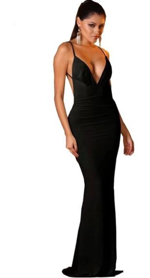 Vestido Largo De Fiesta Color Negro Nuevo Importado De Usa