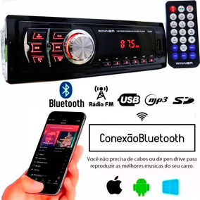 Auto Radio Automotivo Bluetooth Usb Sd Mp3 Player Som Carro