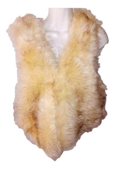 Chaleco De Piel Sintetica Zorro Dama Pelo Sintetico Fashion Talla M Liquidacion $1,290a