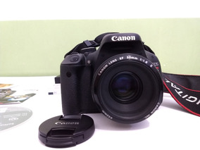 Canon T3i Com Objetiva 50mm 1.8ll Impecável