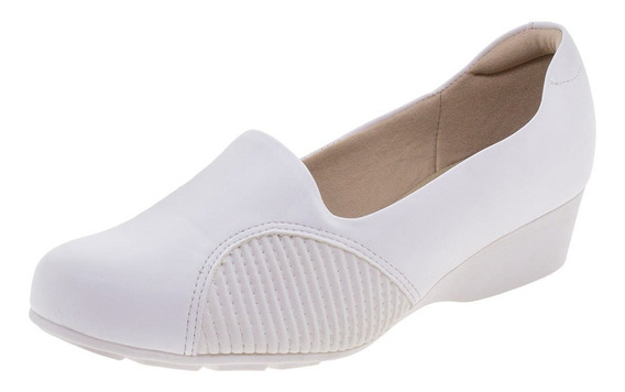Sapato Feminino Anabela Modare - 7014249 Branco