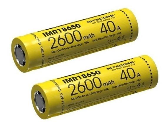 Bateria Nitecore 18650 Imr 2600 Mah 3,7 V 40a High Drai