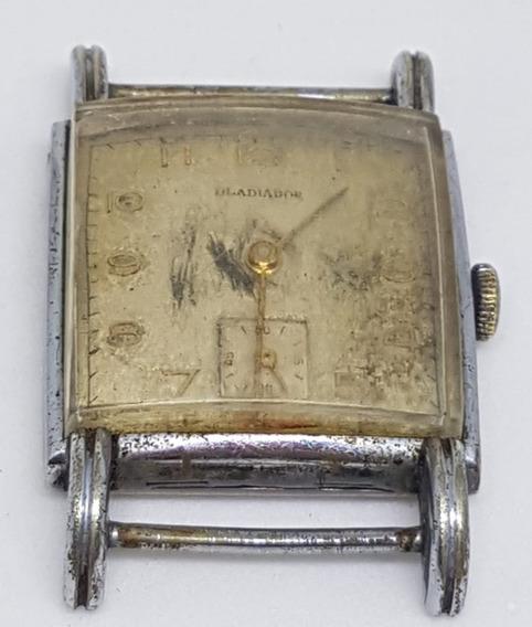 Relógio Pulso Vintage Gladiador No Estado P/peça 25x25 Mm