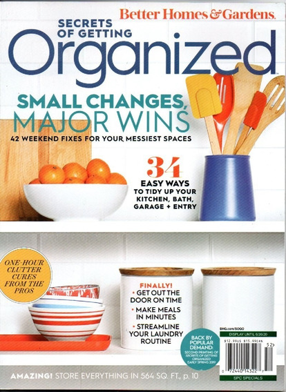 Revista Secrets Of Getting Organized Bhg