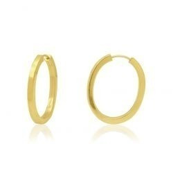 Brinco Argola Redonda Pequena Ouro 18k Certificado H07