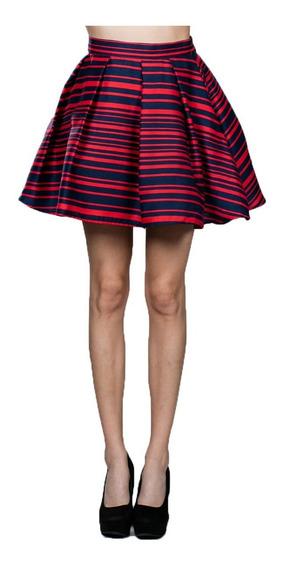 Minifalda Ark & Co. Con Estampado De Rayas