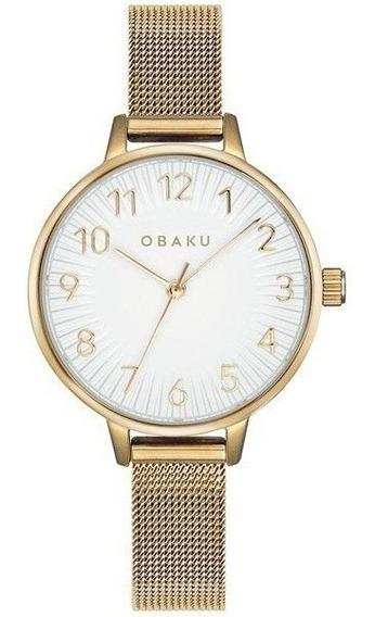 Reloj Obaku V237lxgimg Acero Dorado-blanco De Dama Original