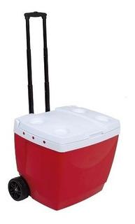 Caixa Térmica 42 Litros Com Rodinha Vermelha - Mor 25108222