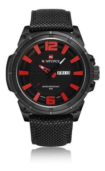 Relógio Masculino Naviforce 9066 Militar Esportivo Nylon