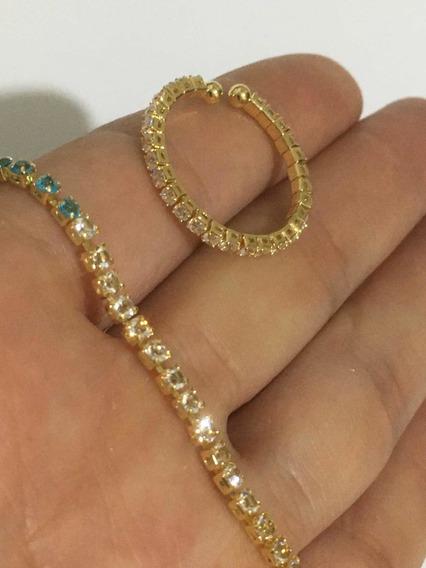 Anel Riviera Ajustável+pulseira 18,5cm Riviera Promoção Sale