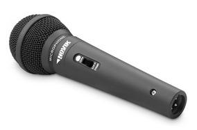 Microfone Dinâmico Novik Fnk5 Cardióide Com Fio