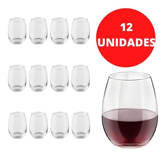 Set X12 Vasos Vino Stemless 430ml Crisa