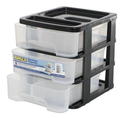 Caja Organizadora Pequeña De 3 Niveles Negro Rimax