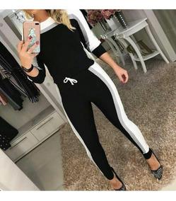 Conjunto Moletom Feminino Moletinho Calça E Blusa Frio 2019