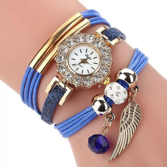 Pulsera De Reloj Con Diamantes Para Dama