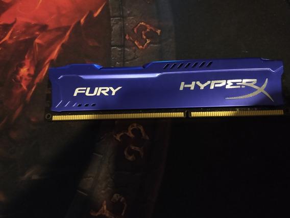 Memória Ddr3 4gb Hyper Fury Azul Usada (frete Grátis)