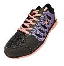 Zapatilla Stone Dama (negro/violeta/rosa)
