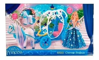 Princesas Princess Carruaje Con Sonido Y Movimiento Ditoys