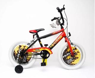 Bicicleta Rodado 16 Varon Nene Rueditas Futura 4050