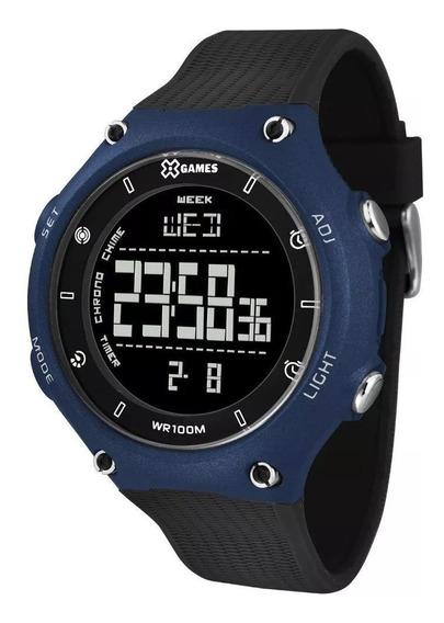 Relógio Masculino X-games Digital Xmppd479 Pxpx Azul Preto