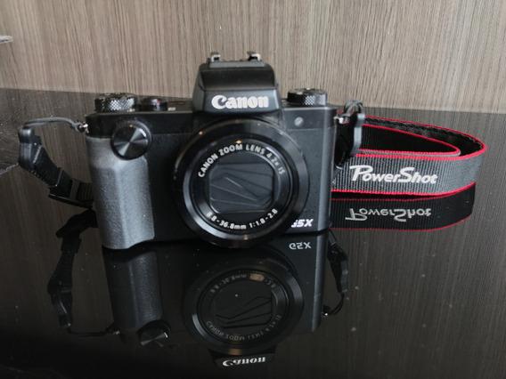 Canon G5x C/ 3 Baterias , Capa De Couro Retro, Sem Detalhes