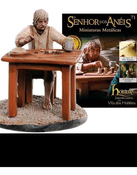 O Senhor Dos Anéis - Hobbit Jogando Xadez - Miniatura