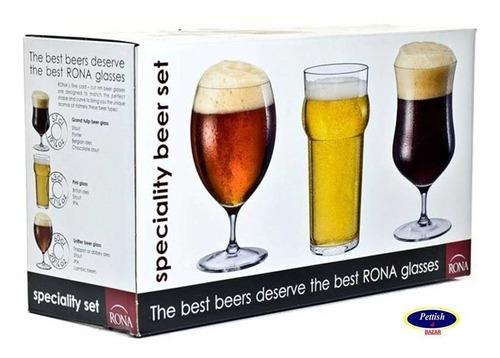 Set 3 Vasos Para Cerveza Speciality Rona Pettish Online Vc