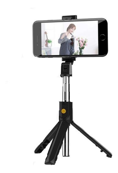Bastão De Selfie Tripé C/ Bluetooth Para Celular Mzp-110/anx