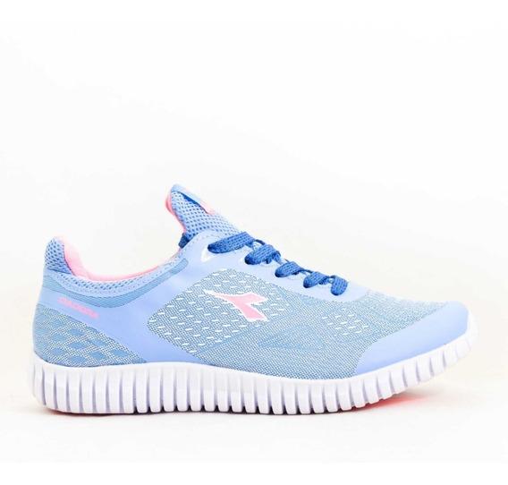 Zapatilla Dama Running Diadora Mod Blue/pink
