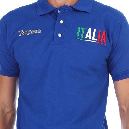 Playera Original Tipo Polo Hombre De Italia Kappa Azurri.