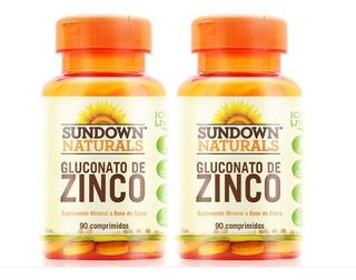 Zinco Sundown Importado Combo 2 (180 C) Gluconato De Zinco