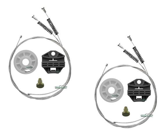 02 Kit Reparo Maquina Vidro Eletrico Omega 4p Traseiro 91/98