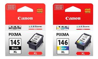 Combo Cartucho Canon 145xl Negro + 146xl Color Original
