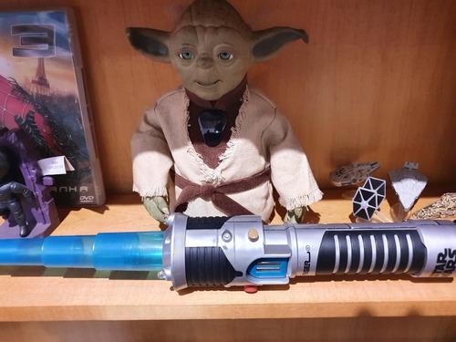 Starwars Mestre Yoda Com Sabre De Luz Hasbro