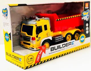 Camion Volcador Rojo Friccion Luz Y Sonido Tv Wy301s Bigshop