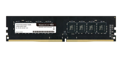 Memoria Ram 16gb Teamgroup Elite Ddr4 Single 2400mhz Pc4-19200 Cl16 Unbuffered Non-ecc 1.2v Udimm 288 Pin Pc Computer Mo