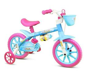 Bicicleta Infantil Aro 12 Aqua - Nathor - Rosa/azul