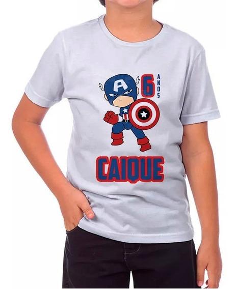 Promoção Camisa Personalizada - Capitão América