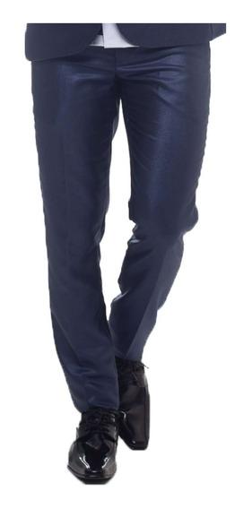Calça Social Slim Azul Marinho