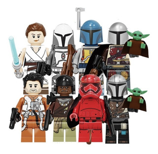 8 Figuras Star Wars Mandalorian Bloques Tipo Lego Baby Yoda