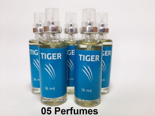 Imagem 1 de 3 de 5 Unidades Tiger (masculino) 16 Ml, Fixação Intensa + 20h