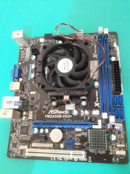 Kit Asrock Fm2a55m-vg3+ A4 7300 3.80ghz Cooler