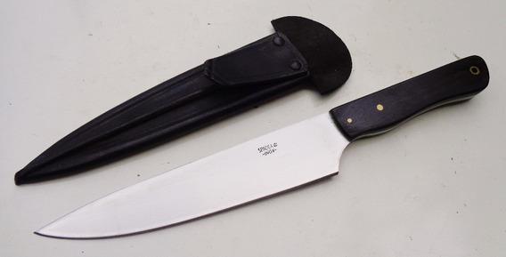 Cuchillo Spadea 7cime - Inox 420 - Ébano - Tipo Solingen.