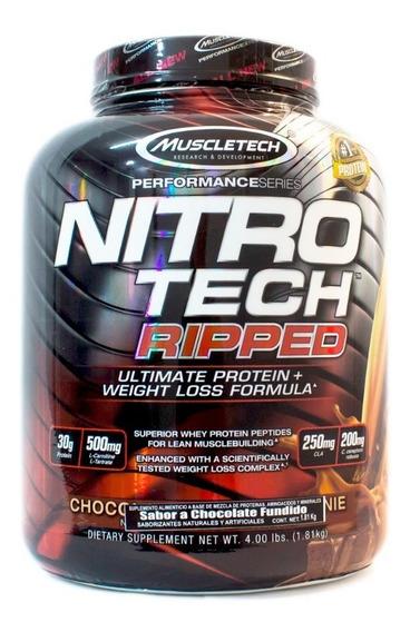 Proteina Muscletech Nitrotech Ripped 4 Lb. ( 1.81 Kg)
