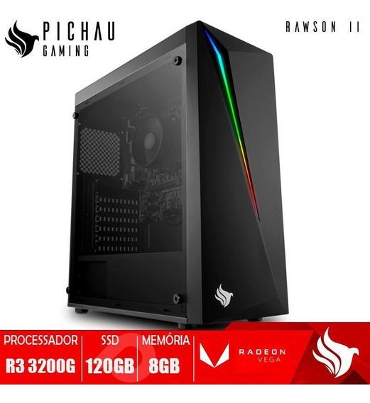 Pc Gamer Pichau Rawson Ii, Ryzen 3 3200g, 16gb, Ssd 240gb